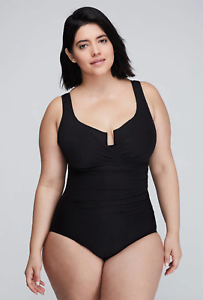 NEW LANE BRYANT ONE PIECE SWIMSUIT XtraLife MIRACLESUIT Plus Size 22 & 24  175