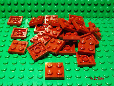 ** 25 CT LOT ** Lego NEW dark red 6 x 8 plate pieces  Lot of 25