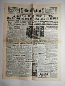 N772-La-Une-Du-Journal-Le-Matin-31-octobre-1940-marechal-Petain-fuhrer