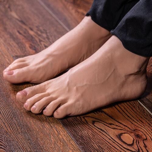 Silicone Men Model Hair Leg Lifelike Mannequin Feet One Right Or Left Display