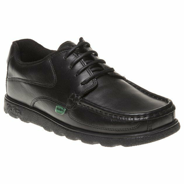 fedd684b Boys Kickers Black Fragma Lace Leather Shoes up Junior 6 for sale ...