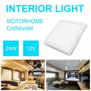 Plafoniera-soffitti-interno-Lampada-LED-Luce-CABIAN-per-auto-VAN-CAMPER-12V-24W