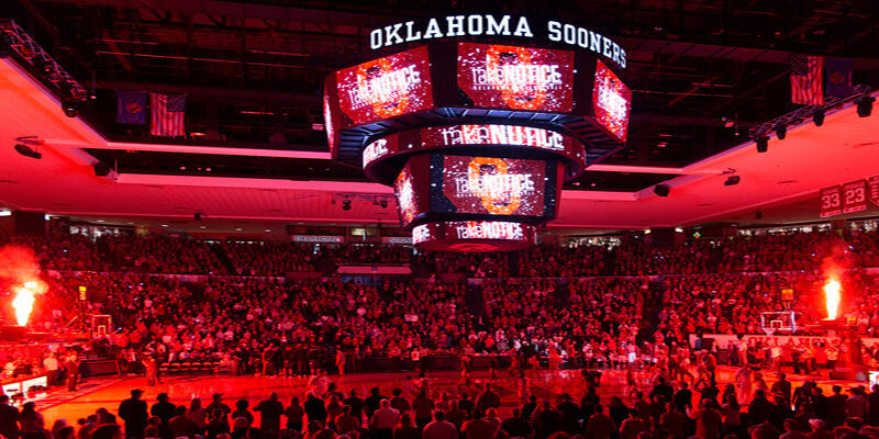 Iowa State Cyclones at Oklahoma Sooners Basketball