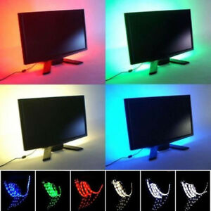 USB-powered-RGB-CAMBIO-DE-COLORES-1m-5050-Barra-para-LUZ-LED-TV-fondo-ambiente