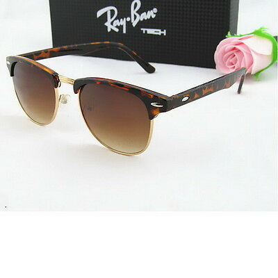 Leopard Retro Vintage Womens Mens Designer Oversized Sunglasses Glasses NEW FT