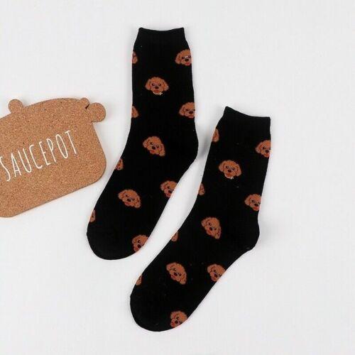 1 Pair Cute Cartoon Women Cotton Socks Funny Dog Animal Sock Casual Pattern P7M5