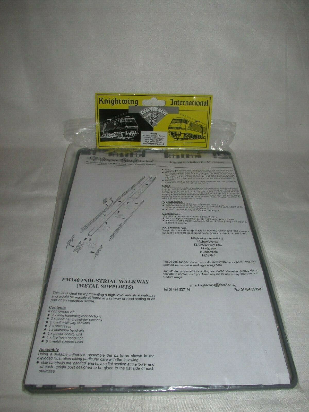 "Industrial Walkway inc Metal Supports 25/""  00 Gauge Kit Knightwing PM140 1st"
