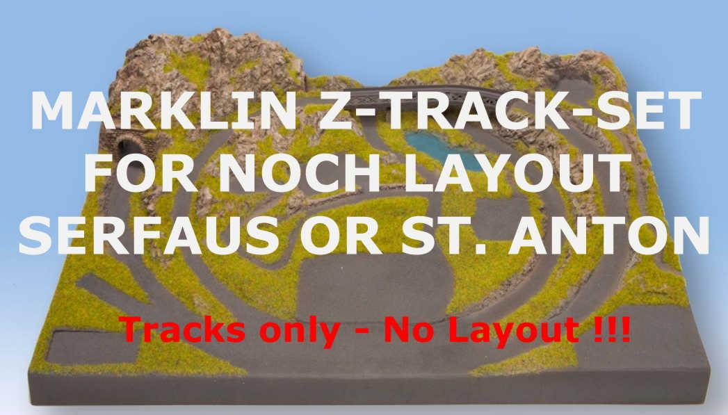 Marklin z Track-Set para noch Z escala Diseño serfaus 87010 o St. Anton 87015
