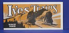 Ives 1929 Train Catalog Lester T Gordon Reprint 1960s Mint