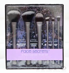 Face-Secrets-6-Piece-Cosmetic-Brush-Set-Powder-Blush-Foundation-Crease-Concealer