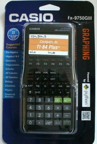 Brand New Casio fx-9750GIII Graphing Calculator Python Black