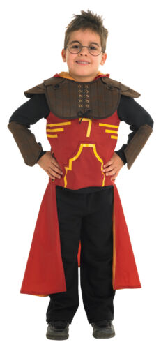 FANCY DRESS ~ HARRY POTTER DELUXE QUIDDITCH COSTUME MED AGE 5-6