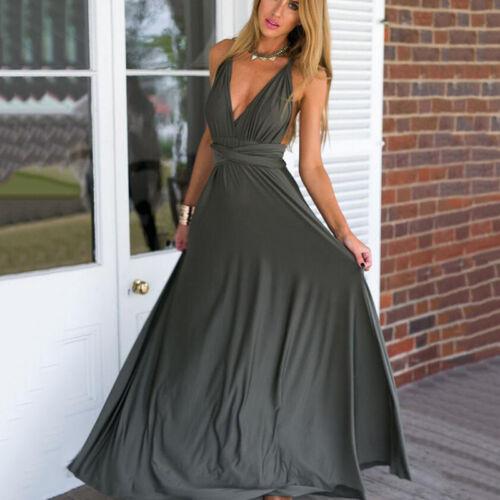 Womens Cocktail Dress Convertible Multi Way Bridesmaid Formal Maxi Long Dresses