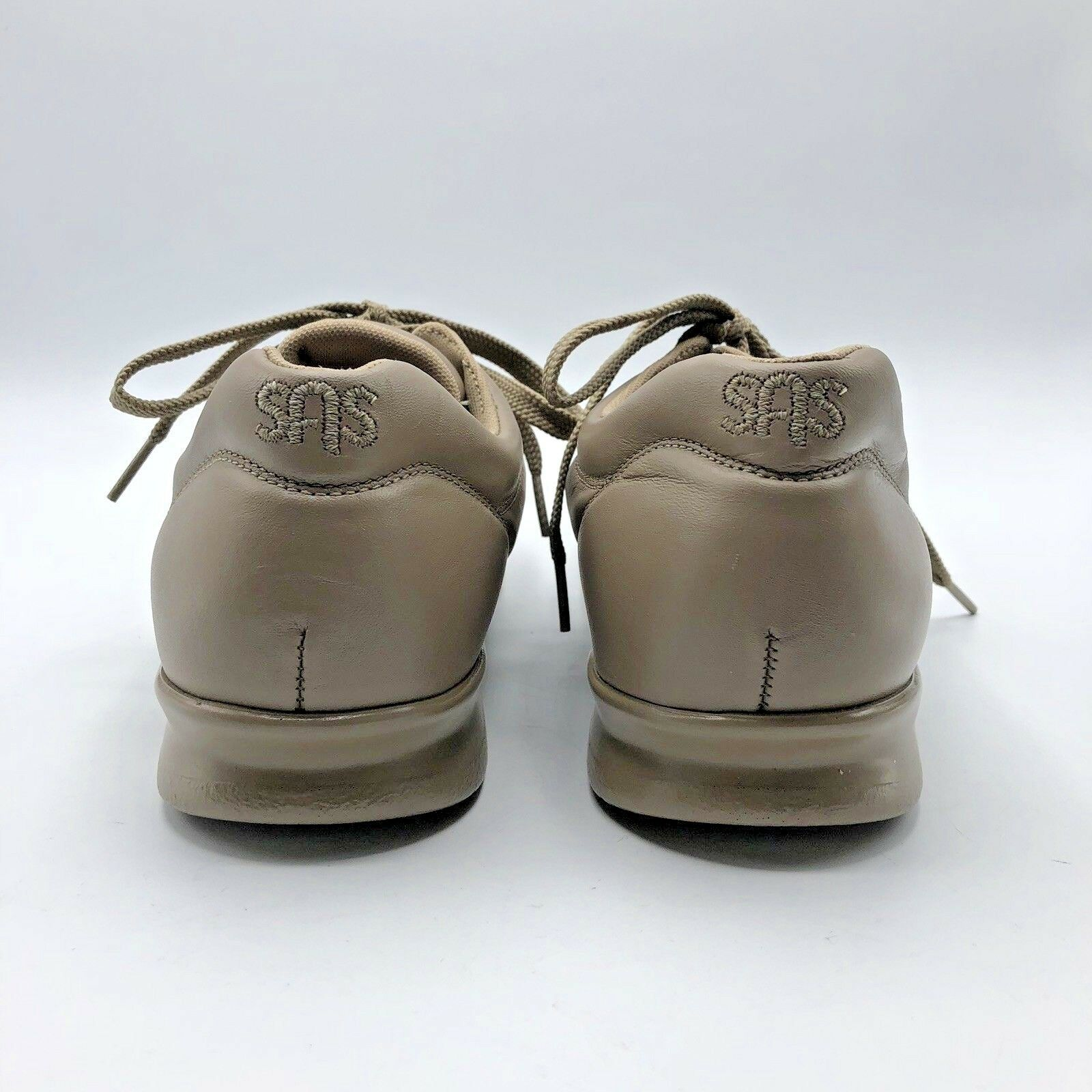SAS Free Time 75960087 75960087 75960087 Women Beige Lace Up Comfort Walking shoes SZ 10S Pre Owned 521811