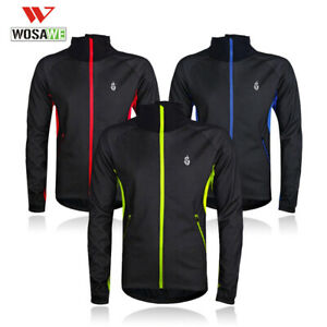 Winter-Cycling-Jacket-Warmer-Thermal-Fleece-Long-Sleeve-Coat-Windproof-Jersey