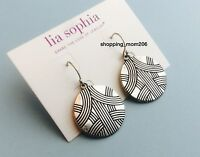 Lia Sophia Menagerie Silver Tone Earrings