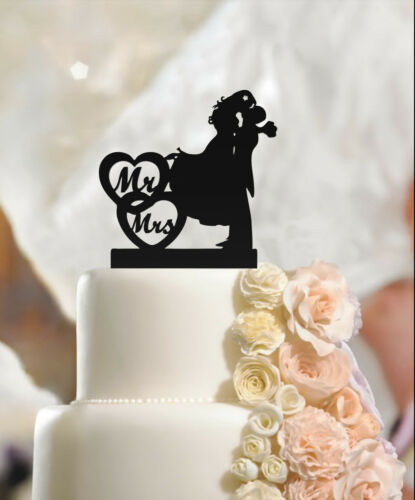 high quality acrylic Fiance /& Fiancee Mr/&Mrs Engagement Cake Toppers