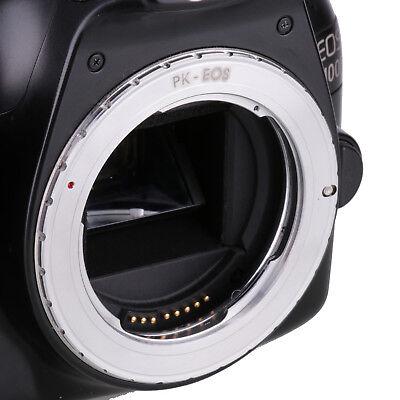 Pentax k Pk Lente para Canon Eos Ef Adaptador 7D 60D 500D 1100D
