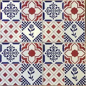 Ceramica vietri patchwork piastrelle 20x20 decorate in - Piastrelle ceramica vietri ...