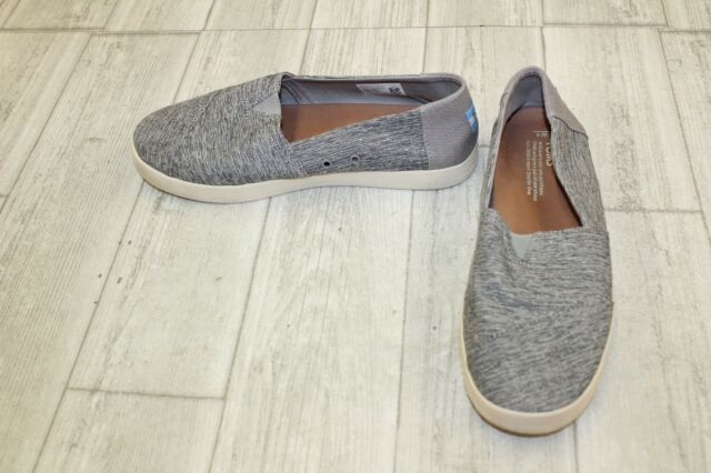 52979674331 Toms Womens Avalon Slip Ons Forged Iron Grey Space Dye Size 8