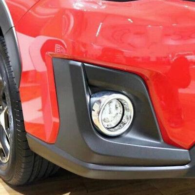 For Subaru Crosstrek 2018-2019 Chrome Side Front head Fog light lamp Cover trim