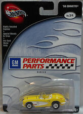 Hot Wheels Perferred 58 Corvette Yellow GM Performance Parts Series W/RR MOMC