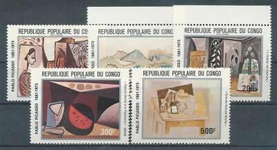 226284) Kongo Braz. Nr.827-31** Gemälde Picasso