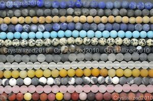 Wholesale-Matte-Frosted-Natural-Gemstone-Round-Loose-Beads-4mm-6mm-8mm-10mm-12mm