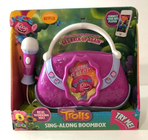 Trolls Movie Sing-Along Microphone Megaphone Toy Purse Boombox iPod//iPhone//MP3
