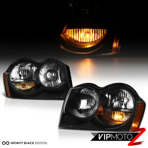 For-05-07-Jeep-Grand-Cherokee-WK-Limited-Laredo-Black-Front-Headlight-Assembly