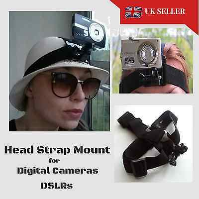 Head Helmet Strap Mount for Digital Cameras fits Vivitar Dvr783hd Action Cam too