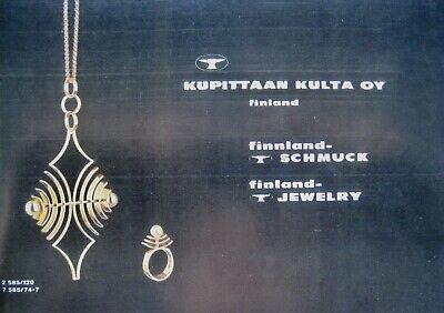 Kupittaan Kulta factory catalogue 60´s//70´s silver