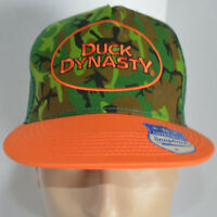 Duck Dynasty Snapback Trucker Hat Camo Orange A&e Baseball Ball Cap Lid Hunting