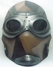 "Army of Two ""Thane 1"" Desert Tan Camo Custom Fiberglass Paintball / Airsoft Mask"