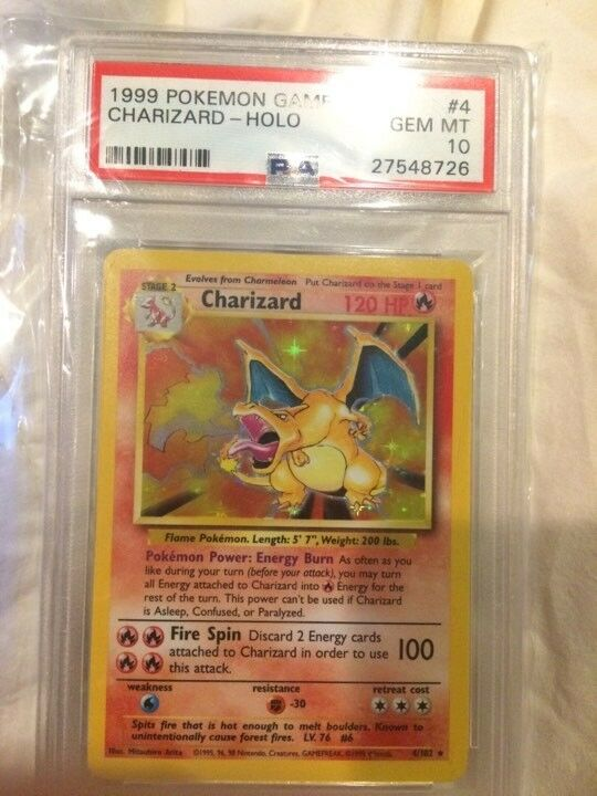 Charizard PSA 10, Gema menta. Impecable 4102 2018 Original