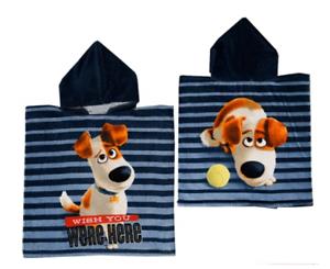 Garçons La vie secrète des animaux BAIN PLAGE VACANCES Swim Coton Serviette Poncho