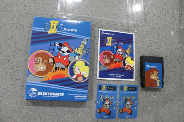 Intellivision Homebrew Game D2K Arcade CIB Box Protector Donkey Kong DIIK Arcade