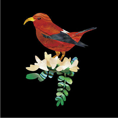 Hawaiian Honeycreeper Bird Inlay Stickers Decals Ukulele