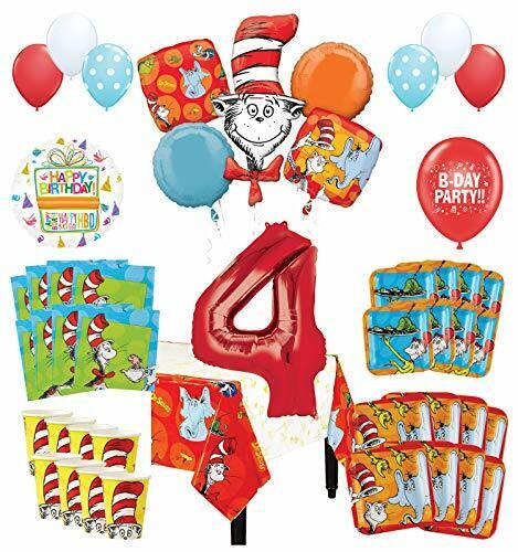 Mayflower Products Dr Seuss 4th Birthday Party Supplies 16 Guest Decoration Kit