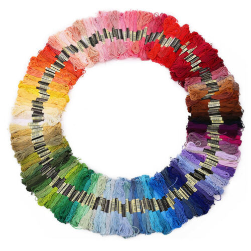 Lot 50//100 Multi Colors Cross Stitch Cotton Embroidery Thread Floss Sewing Skein