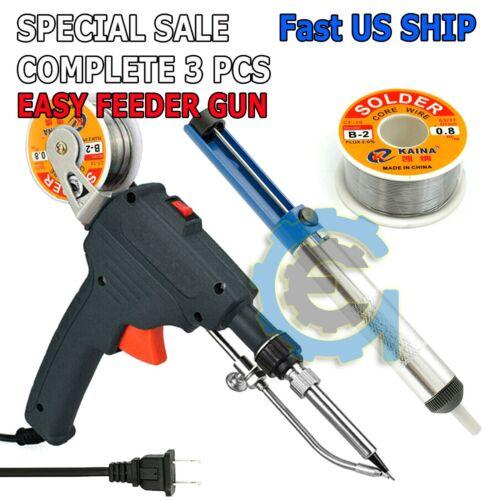 110V 60W Auto Welding Electric Soldering Iron Temperature Gun Solder Tool Kits