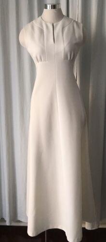 Vintage Alison Ayres 60s 70s MOD White Polyester J