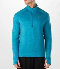 Thermal Nike Element Sphere Half Zip Running Shirt Pullover Blue 683906-408 SZ L