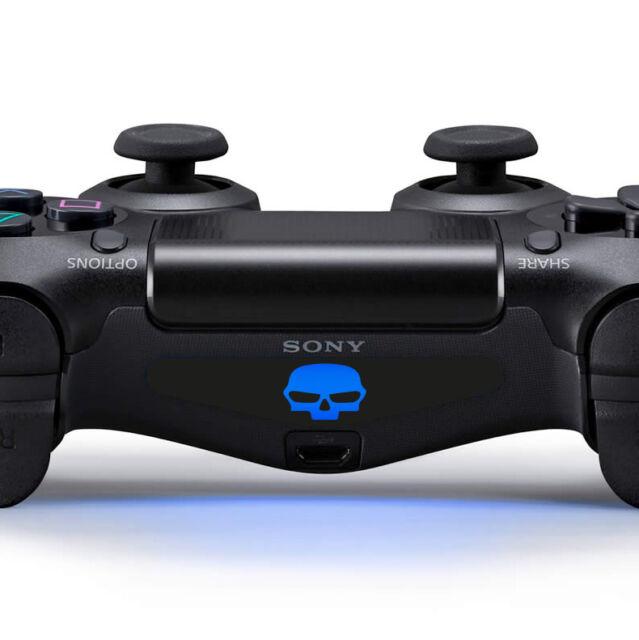 2x PS4 Controller Sticker Licht Lightbar Aufkleber Skull Totenkopf Kill