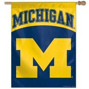 Details about MICHIGAN WOLVERINES ~ Official NCAA Outdoor House Flag Banner  ~ New!