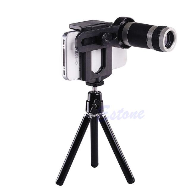 8X Optical Zoom Telescope Camera Lens Tripod Holder Universal For Mobile Phone