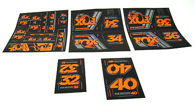 Details about  /FOX Factory Series Fork 40 Orange Left /& Right Decals Set 40mm Stickers 2020