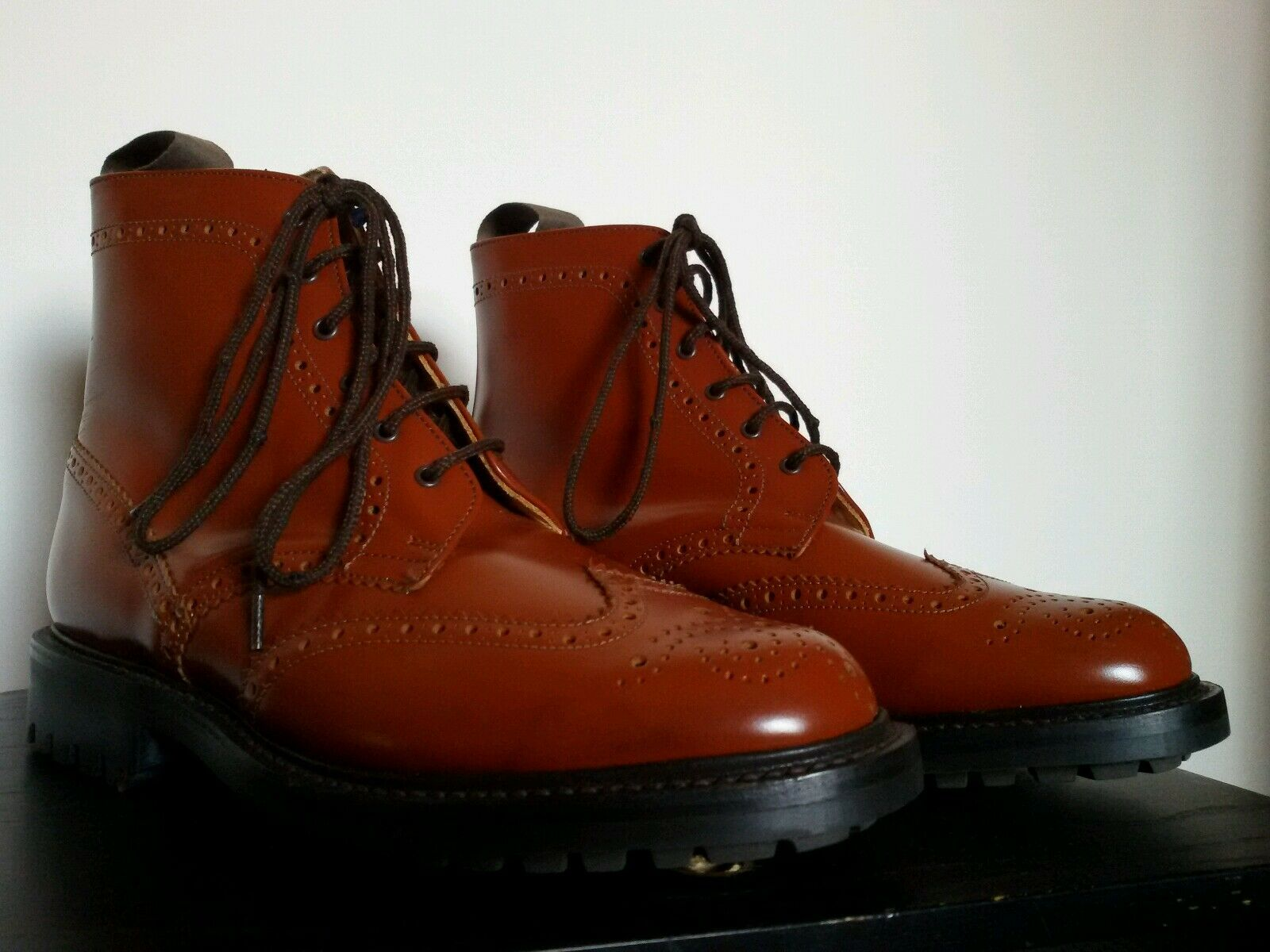 ENGLISH ARTISANS COUNTRY Stiefel DERBY GOODYEAR COMMANDO SOLES Größe UK 6