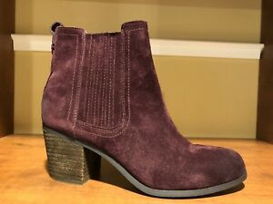 8f8a87916 Image is loading Sam-Edelman-Lance-suede-burgundy-bootie-8-5