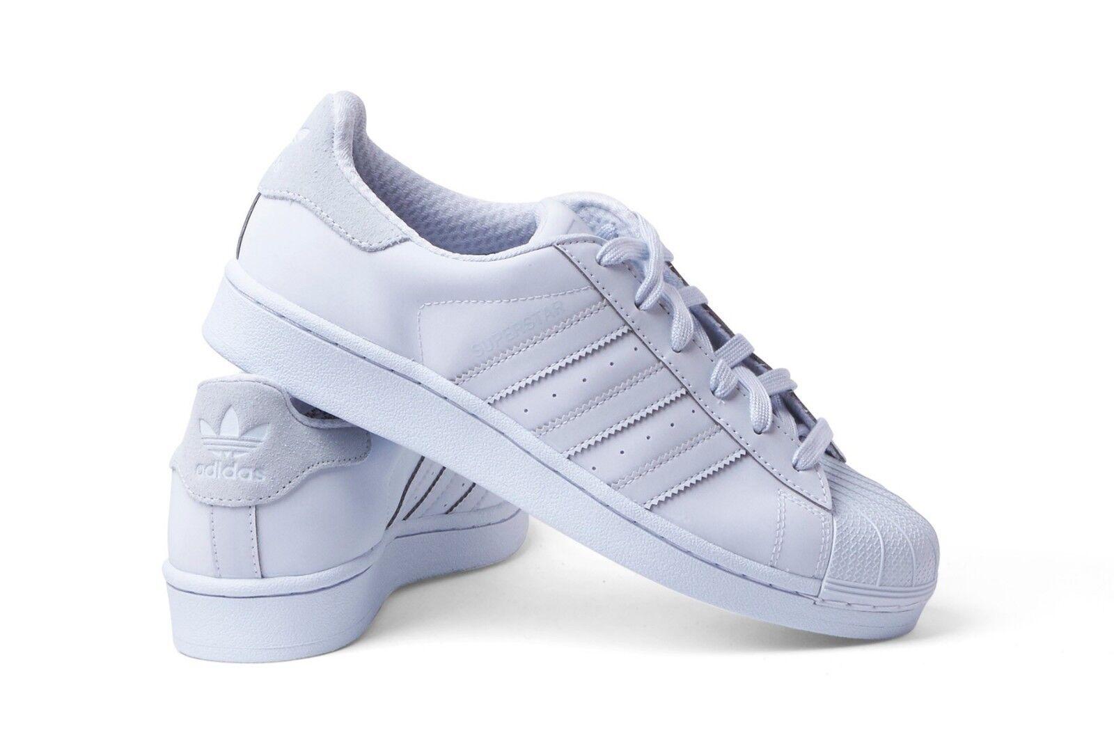 Adidas originals superstar triple weiße wildleder ferse reflektierenden reflektierenden ferse sz 11 schuhe s80329 05e8cf